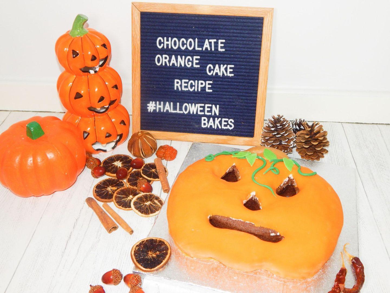Chocolate Orange Pumpkin Cake Recipe – Halloween Bakes!