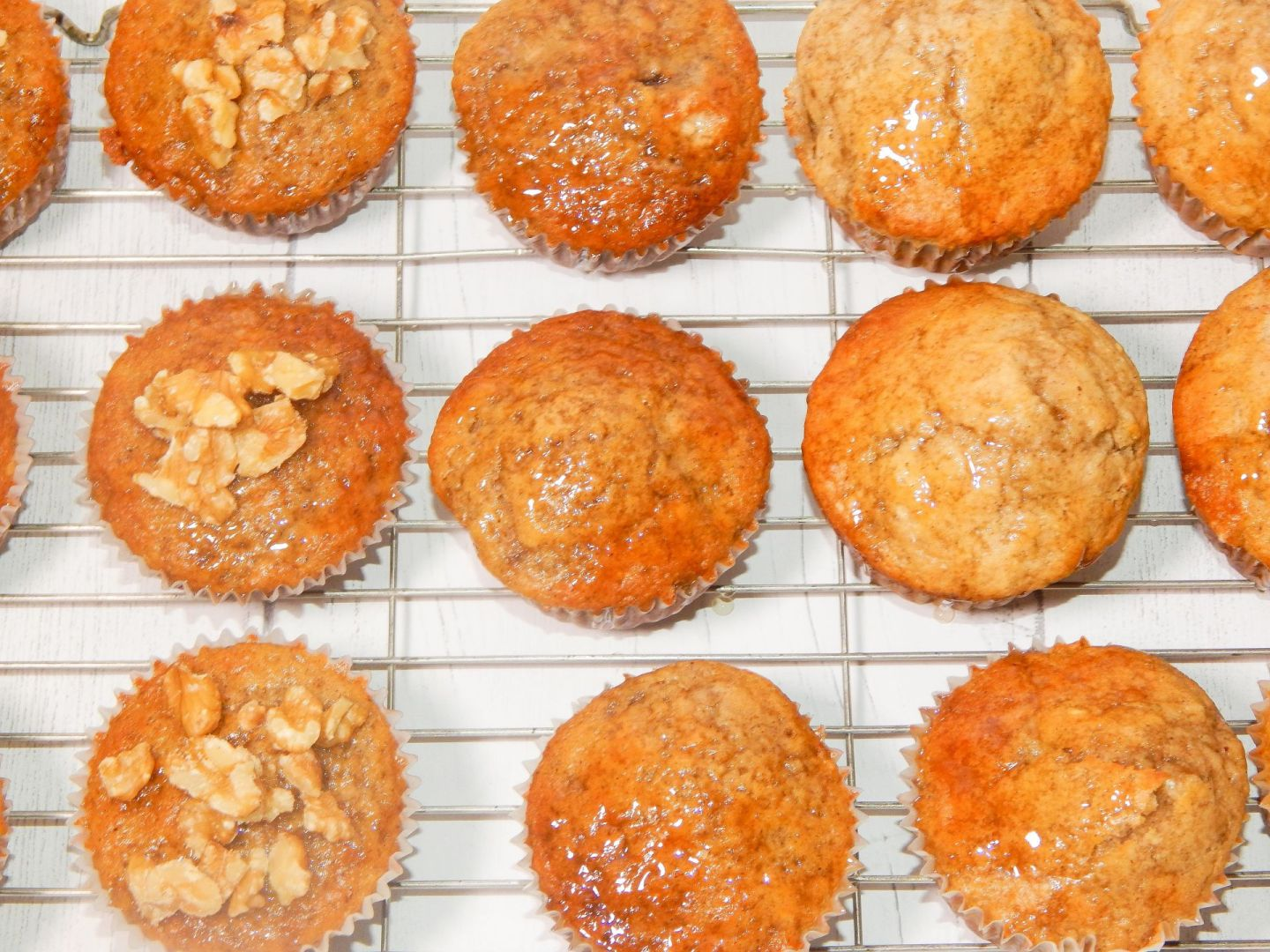 Banana & Cinnamon Muffins With A Honey Glaze Recipe!