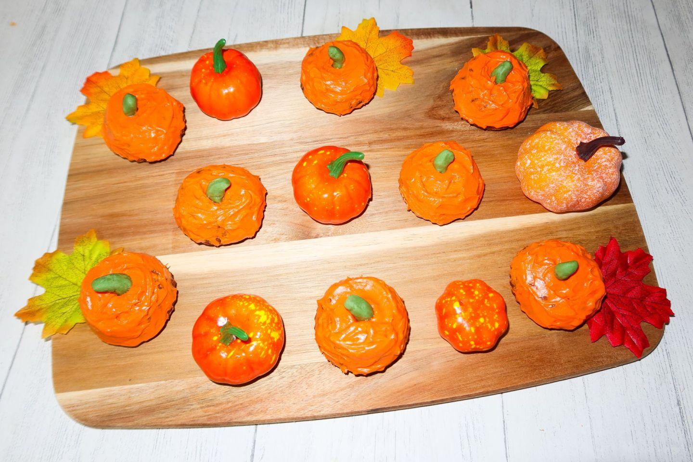 Mini Carrot Cake Pumpkins Recipe | Halloween Bakes!