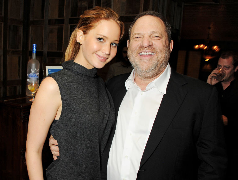 Jennifer Lawrence and Harvey Weinstein | ELLE UK