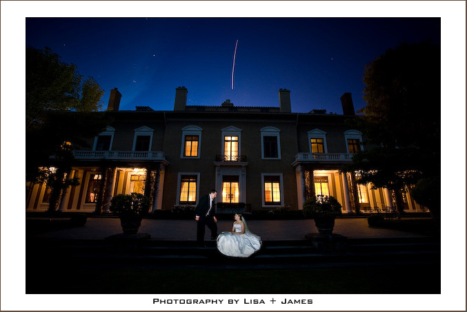 Shooting star over the Burlingame Country Club