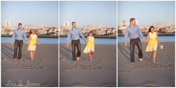 Amy & Adam, Beach Triptych