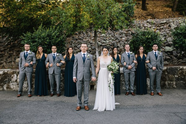 beringer winery wedding party
