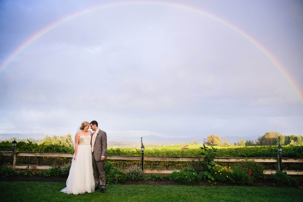 sonoma wedding rainbow