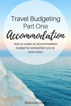 Travel Budgeting Part One Accommodation