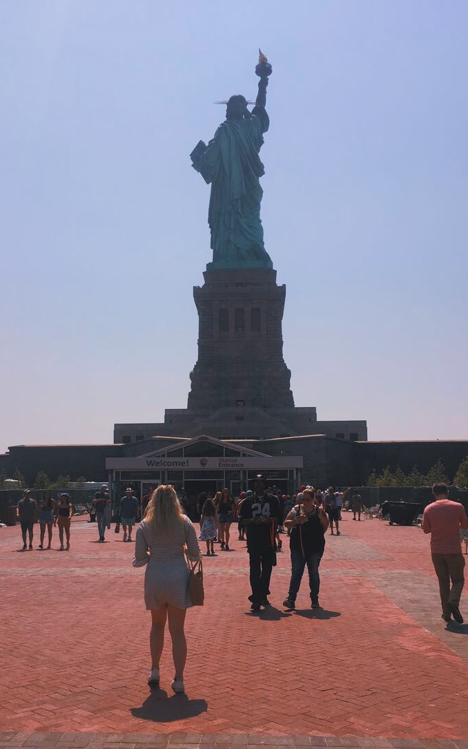 a day at the statue of liberty