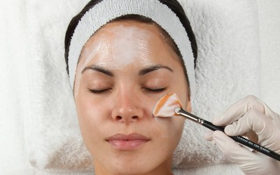 woman receiving chemical peel atlanta medical spa