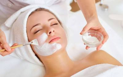 woman receiving facial atlanta medical spa