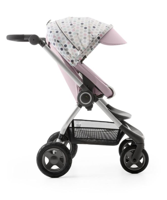Stokke Scoot Soft Pink with Style Kit Soft Dots 140109-8I3871