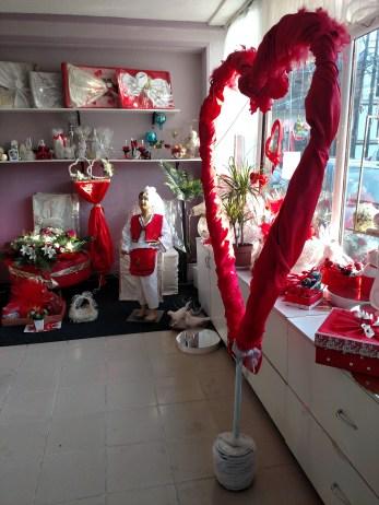 Valentine's Day decorations in Prizren