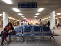 This is what Sofia's airport looks like at 5am. Hoppin.