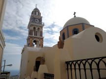 One of the Orthodox cathedrals in Fira