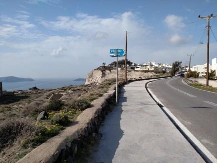 Adventure 1 on Santorini: Walking to the Wine Museum
