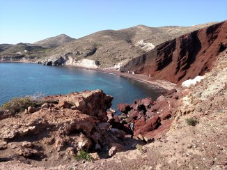 Adventure 3: Taking the bus down to Akrotini and Red Beach