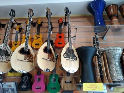 Traditional Greek guitars handmade in Santorini