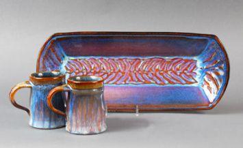 Platter and Mugs