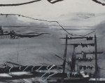 """Untitled, 2008, 10'x 21"""", ink on paper"""