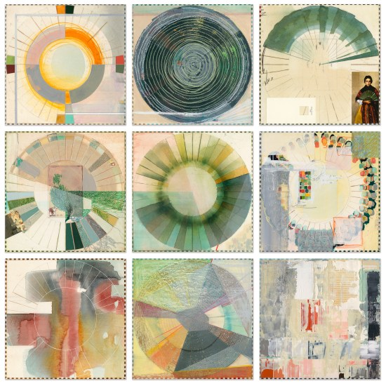 Ellen Heck - Carolina Color Wheels:Green Fans