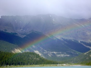 Beautiful rainbow at Coronet Creek