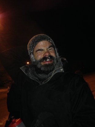 Frosty face: on really cold days, your hair and moustache will get frosty. Don't worry, it won't kill you, but you'll feel more comfortable if you cover your face and ears.