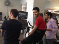 Stationary bike at MacEwan Sports & Wellness