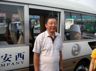 Our bus and driver, very friendly, and very quiet!