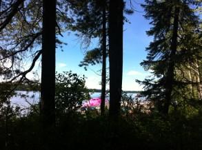 Beach at Crimson Lake