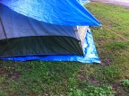I need to tuck the groundsheet under the tent, to prevent any water coming under the tent.