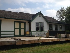 The original train station at Heinsburg is being restored