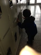 Empty lockers are fun toys.