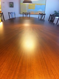 Gorgeous wood table in one of the meeting rooms