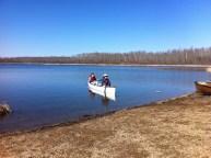 Returning to shore, Islet Lake