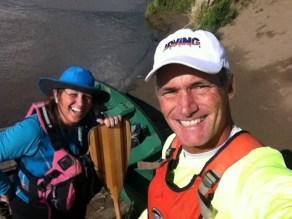Paddling selfie at the takeout: Red Coat Landing, Fort Saskatchewan