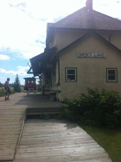 Smoky Lake: former train station, now tourist information/museum