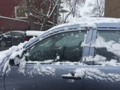 Brush snow off the whole car when it's heavy, so you can see out of all your windows.