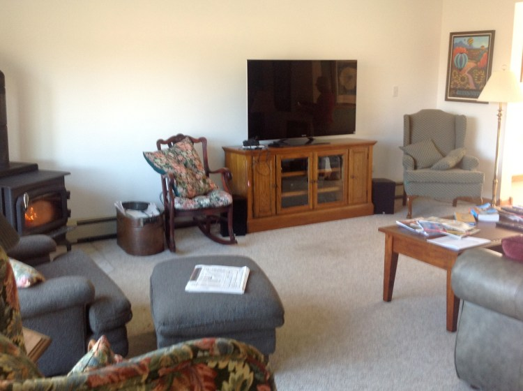 The first thing done in rearranging this room was to give it a more balanced feel by flanking the tv with two bookcases from the opposite wall.