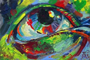 "For Sale: ""eye"" - acrylic - Small painting"