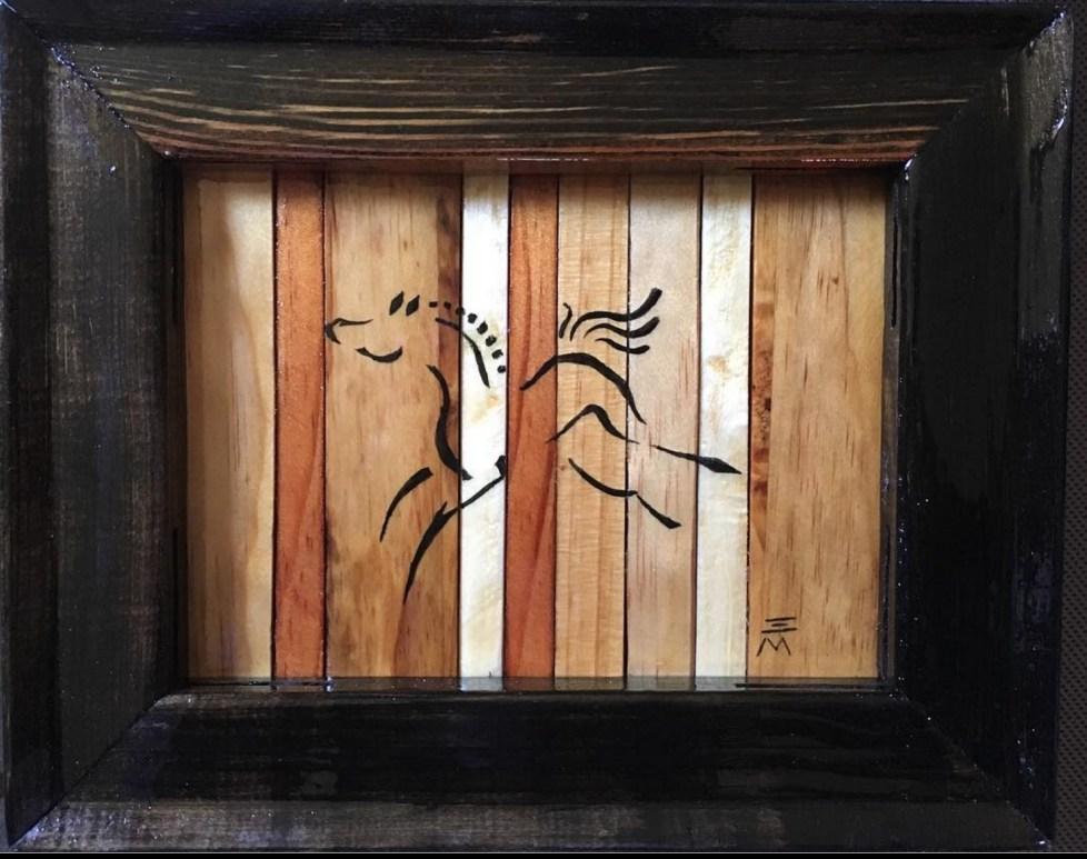 Acrylic paint on upcycled wood