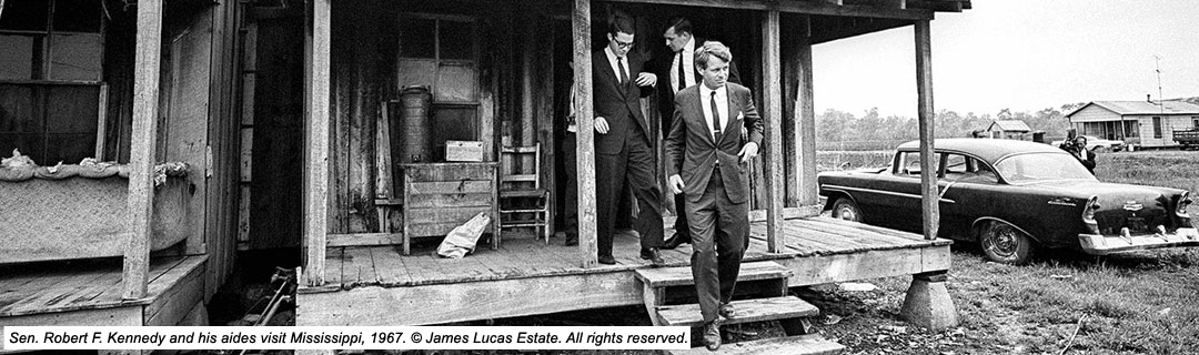 RFK and aides in the Delta, 1967.