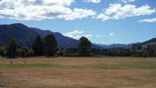 This is New Zealand. Rugby with a view.