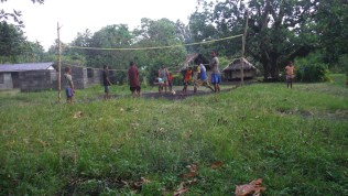 Volleyball with the locals