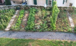 Part of the rooftop vegetable garden at the Chateau d'Aubonne in canton Vaud, Switzerland