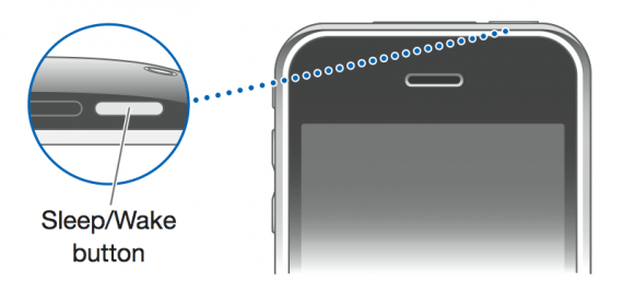 iPhone sleep-wake button