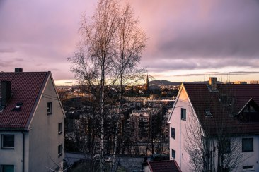 View from Cathrine's lounge, Oslo