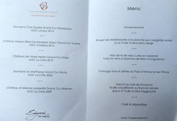 menu table Edgard Palace Lausanne_150914