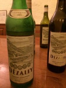 wine white Chasselas Dézaléy VChappuis 1993