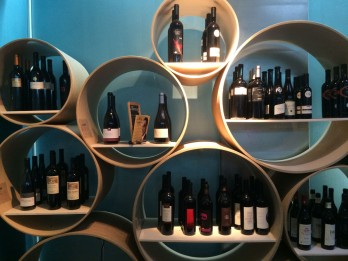 Wines sold at the Lötschberg Café in Bern