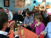 Valais wine producers at the Lötschberg Swiss wine bar in Bern 29 October, before the Grand Prix du Vin Suisse wine awards