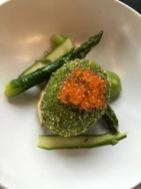 Geneva airport restaurant Le Chef trout asparagus_160316