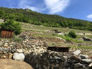 There are more rocks here than needed for the walls, so over the decades and centuries, a large pile has been built